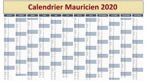 Calendrier Scolaire 2020 Maurice