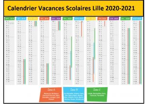 Calendrier Vacances Scolaires 2020 Zone Lille