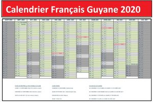 Calendrier Vacances Scolaires 2020 Zone Guyane